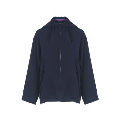high neck hood wind breaker